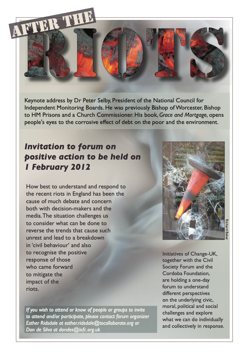 Forum: After the Riots