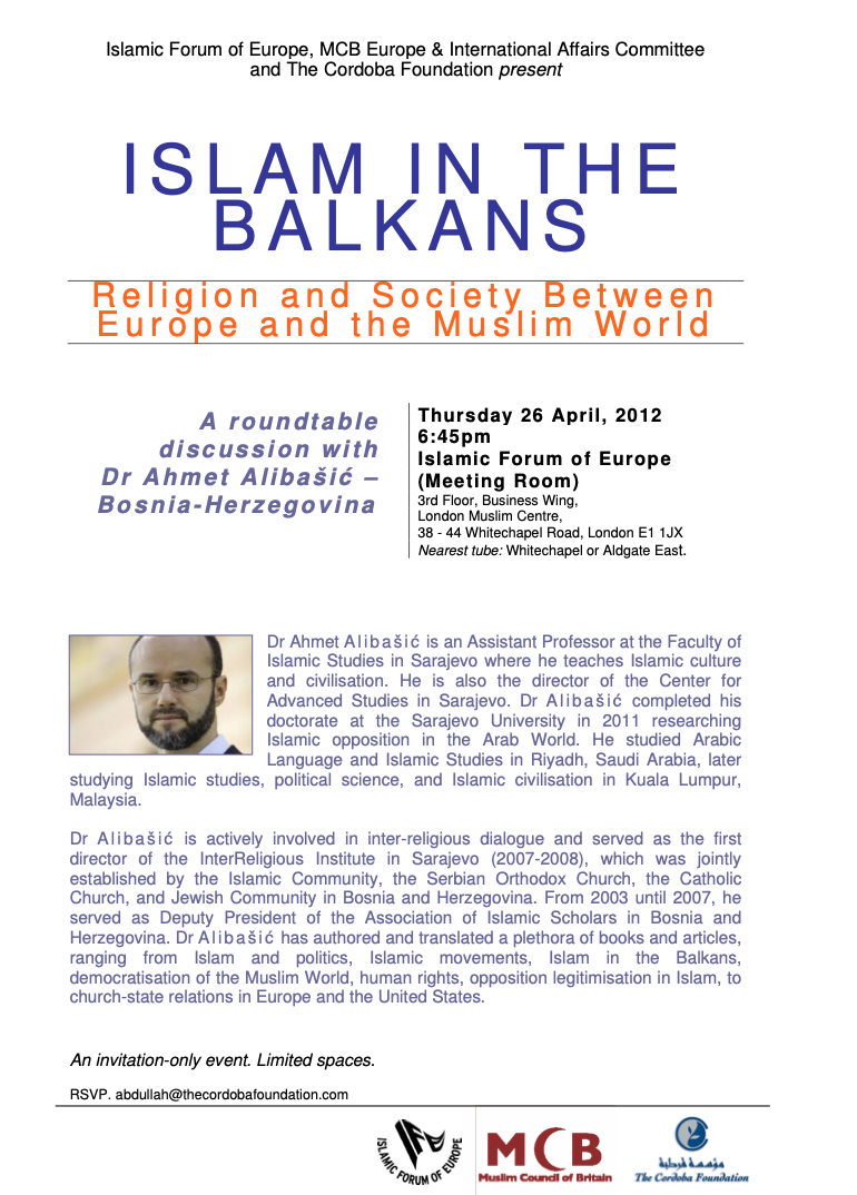 Roundtable Discussion: Islam in the Balkans