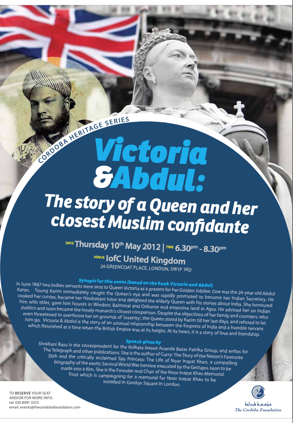 Cordoba Heritage Series: Victoria and Abdul – The Story of a Queen and her Muslim Confidant