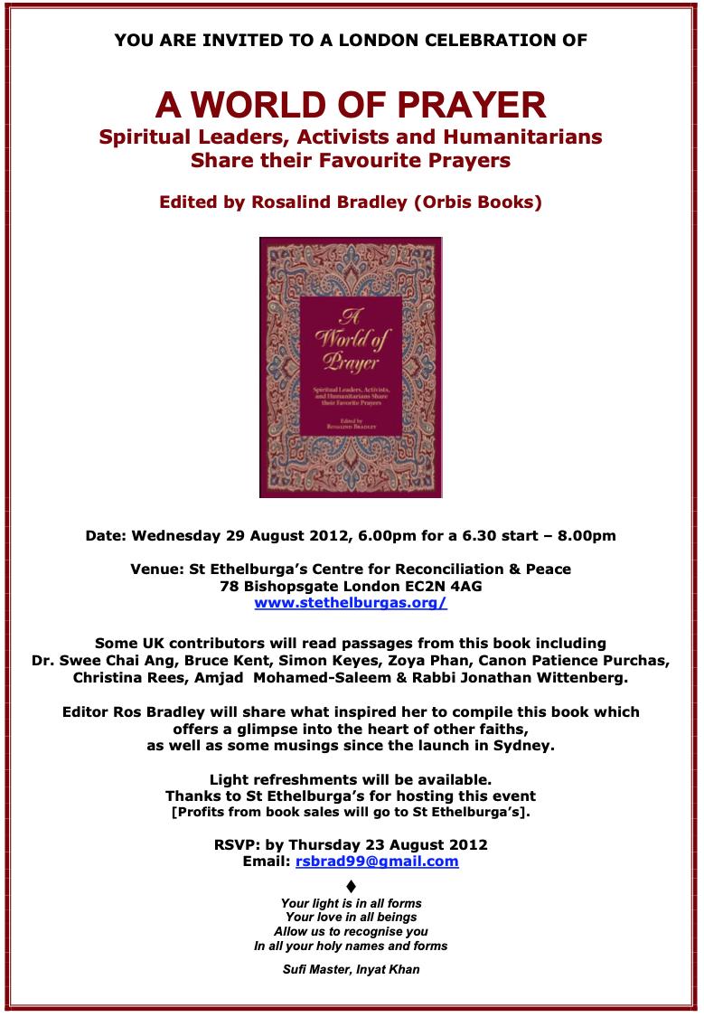 Book Launch: A World of Prayer