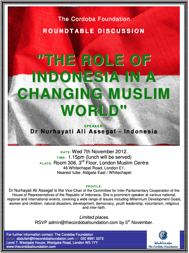 Roundtable: The Role of Indonesia in a Changing Muslim World