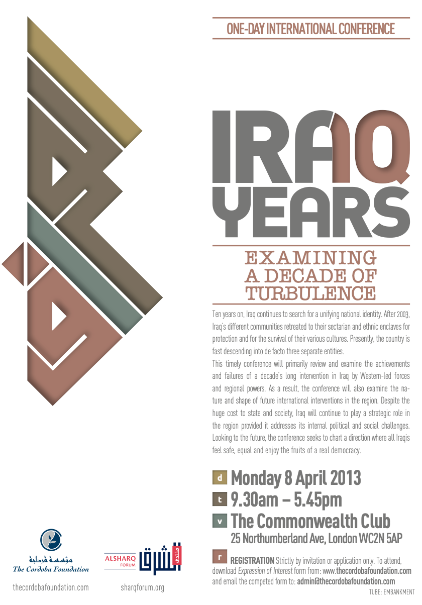 Conference: Iraq 10 years – Examining a Decade of Turbulence