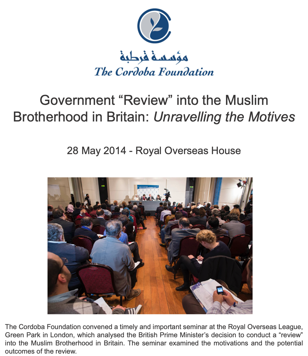 Event Report: Government Review into the Muslim Brotherhood in Britain: Unravelling the Motives