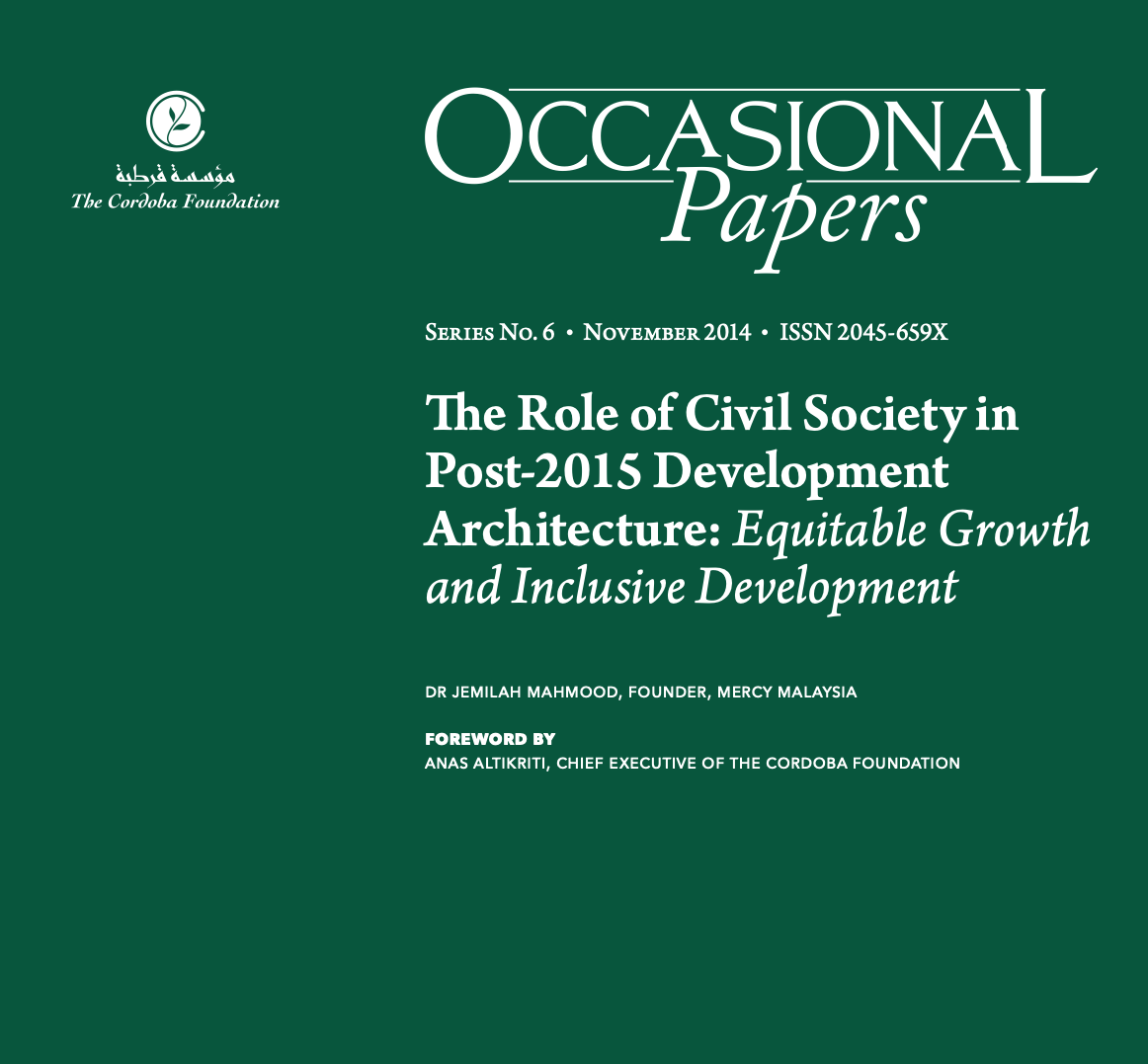 (NEW) Occasional Papers: The Role of Civil Society in Post-2015 Development Architecture