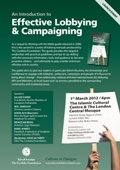 Launch Event: An Introduction to Effective Lobbying & Campaigning