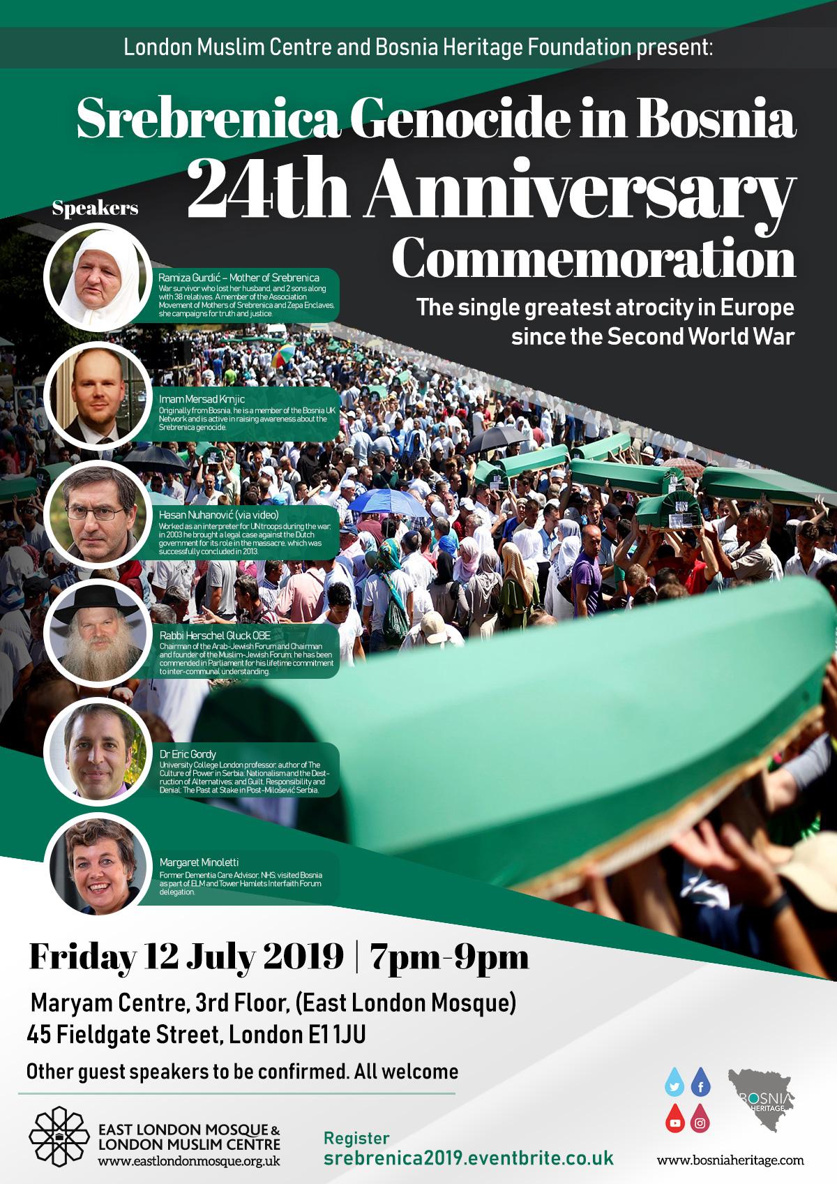 Srebrenica Genocide in Bosnia.