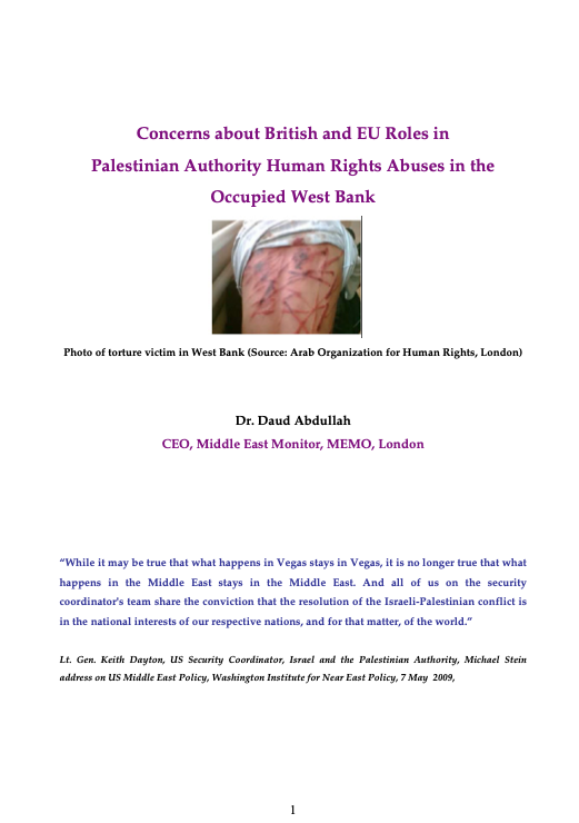 Concerns about British and EU Roles in the Occupied West Bank