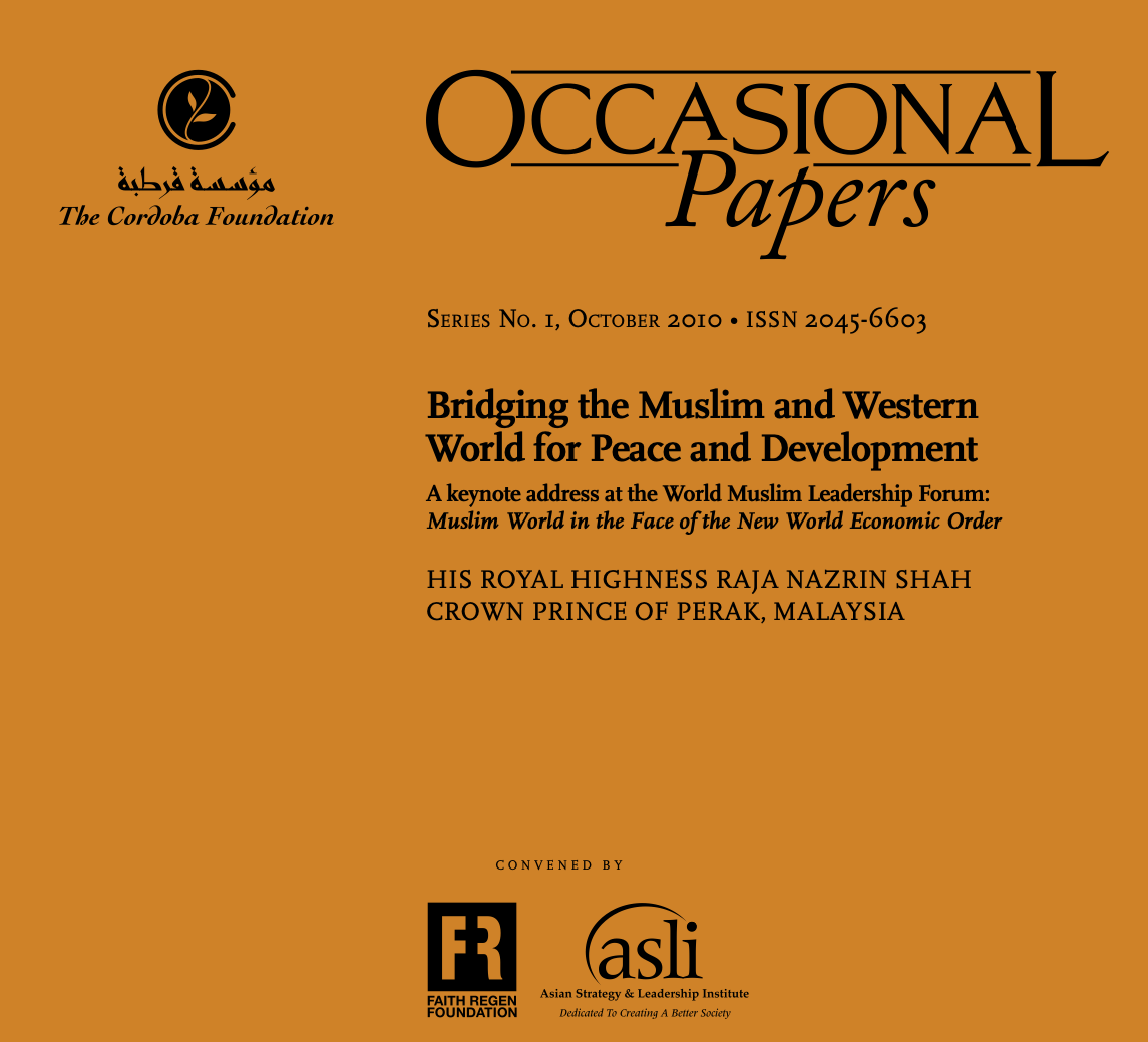 Occasional Papers: Bridging the Muslim and Western World for Peace and Development