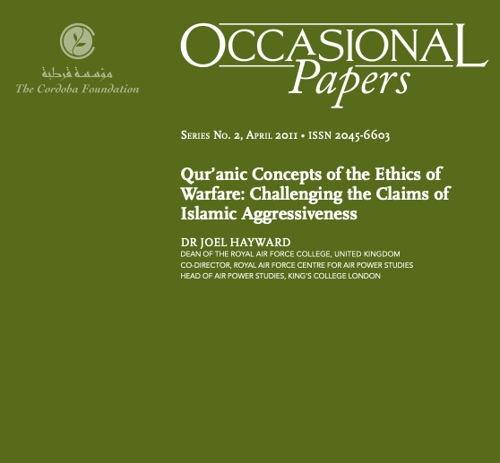 Occasional Papers: Qur'anic Concepts of the Ethics of Warfare