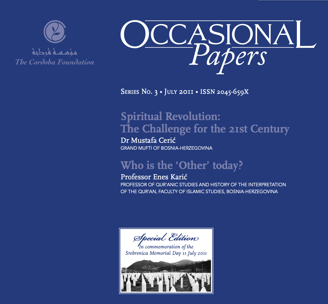 Occasional Papers: Special Commemorative Issue for the Srebrenica Memorial Day