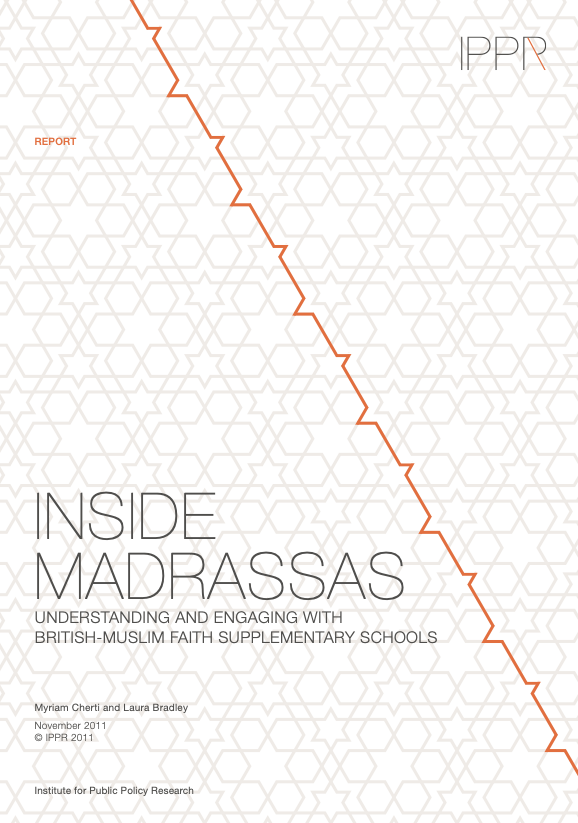Research Report: Inside madrassas – Understanding and engaging with British-Muslim faith supplementary schools