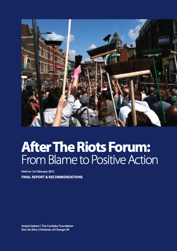 Conference Report: National forum maps out creative ways forward after last year's riots