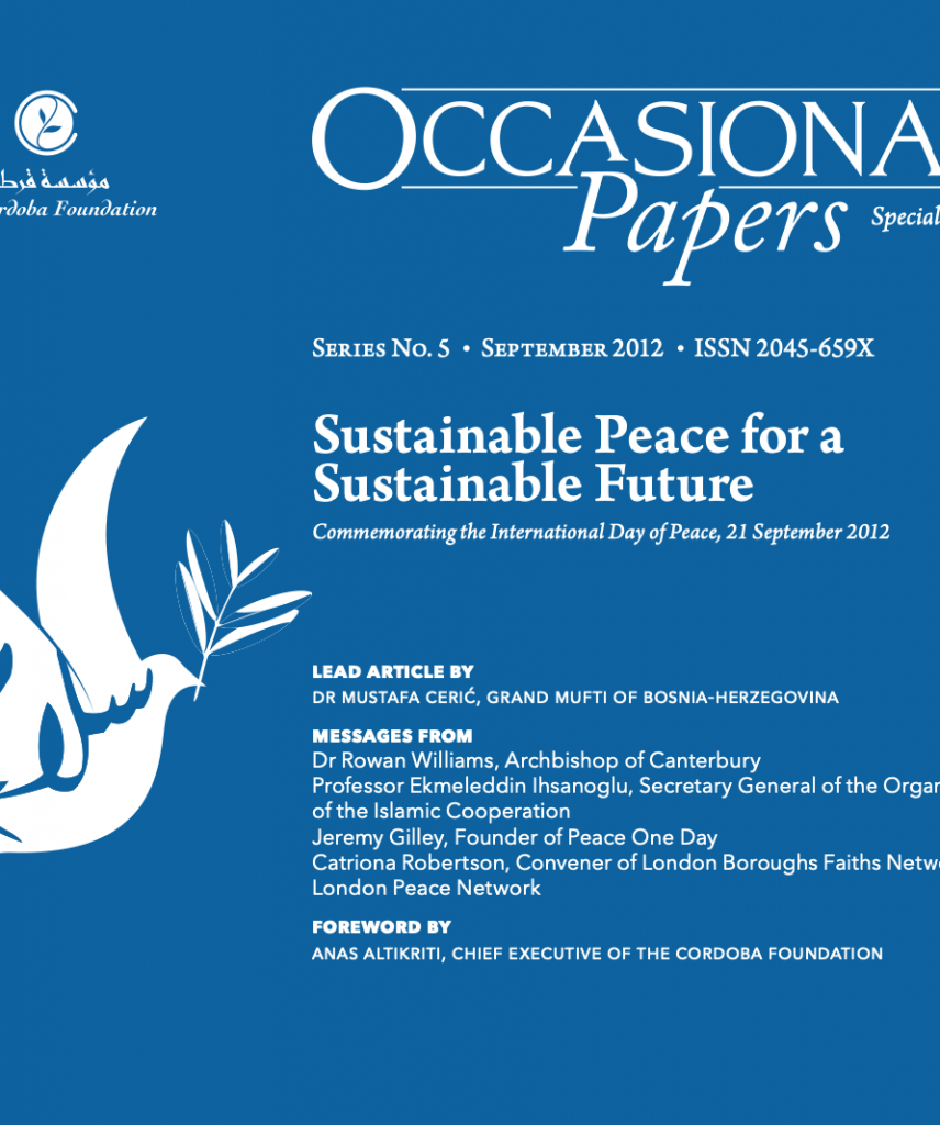 Occasional Papers: Sustainable Peace for a Sustainable Future