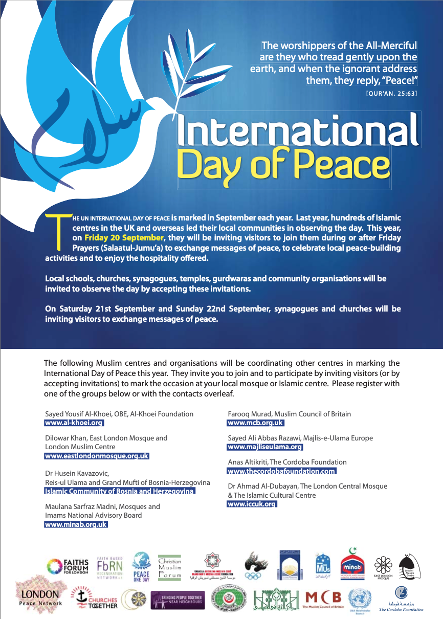 Commemoration: Marking the International Day of Peace