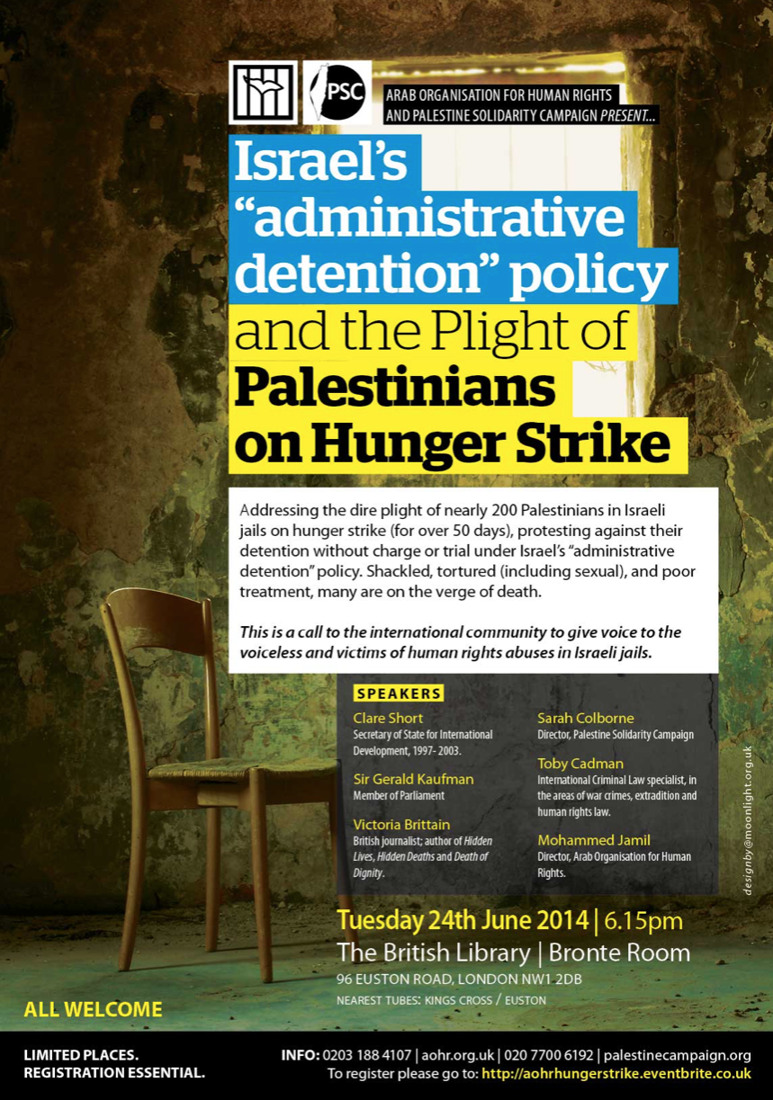 """Israel's """"Administrative Detention"""" Policy and the Plight of Palestinians on Hunger Strike"""