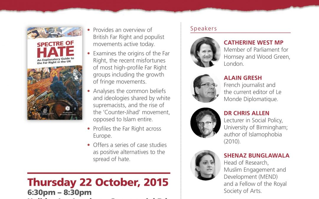 (Spectre of Hate) An Explanatory Guide to the Far Right in the UK
