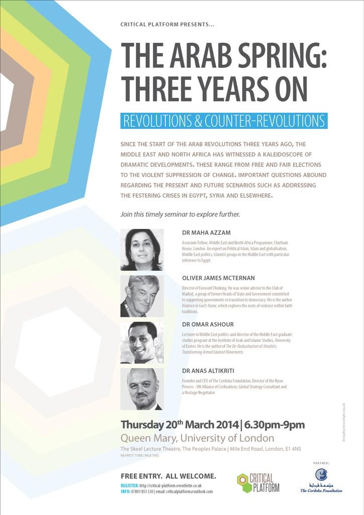Critical Platform: The Arab Spring – Three Years On