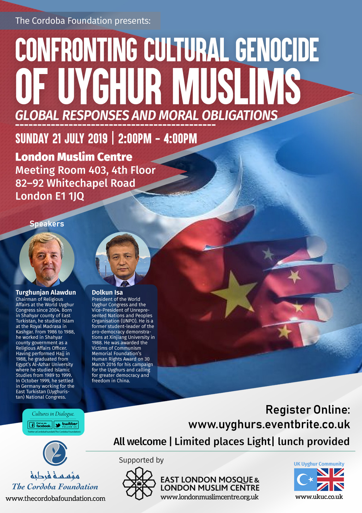 Confronting Cultural Genocide of Uyghur Muslims.